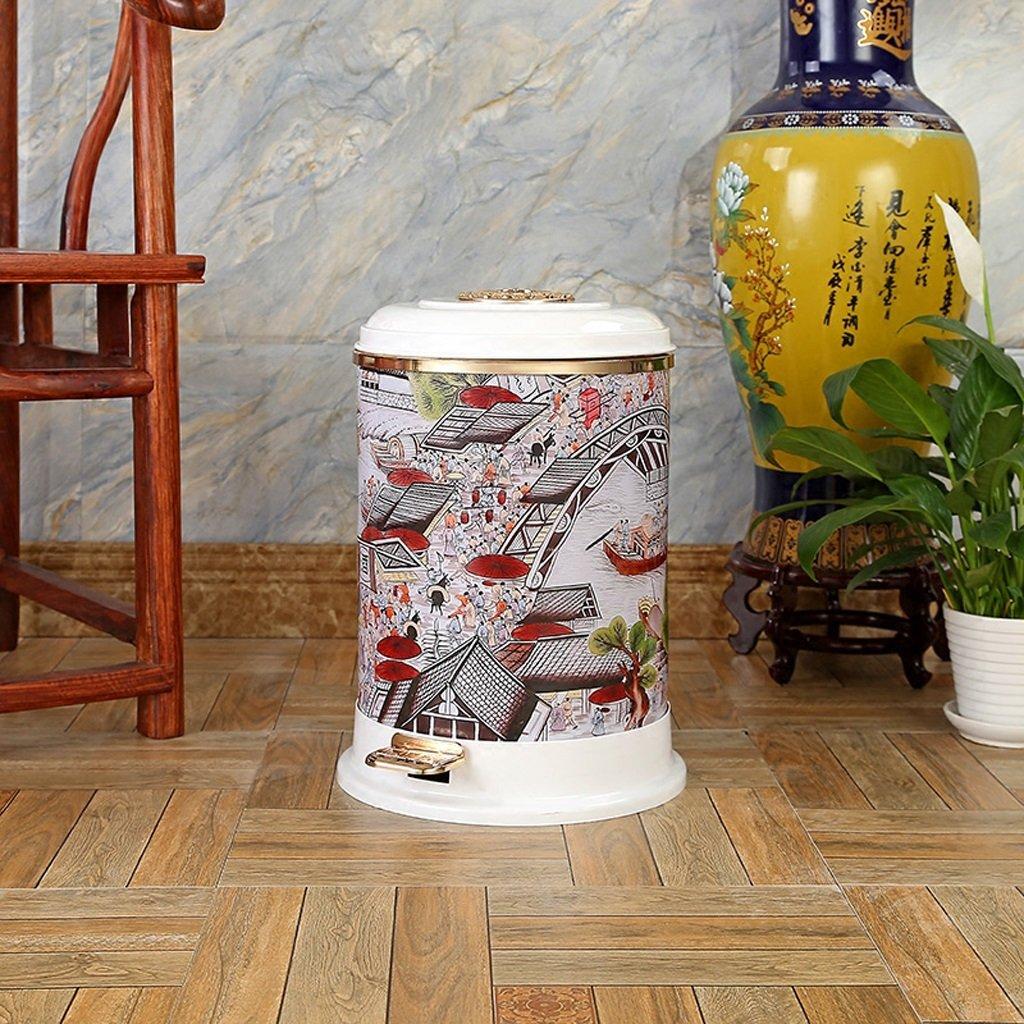 TDD6TDD Pedal Cajas de Cocina Basura Hogar Salón Baño Cocina de De Alto Grado Creative Cover 8L (Color : B) aa4642