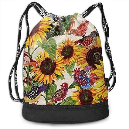 Amazon.com: Sunflower - Mochila con cordón para el hombro ...