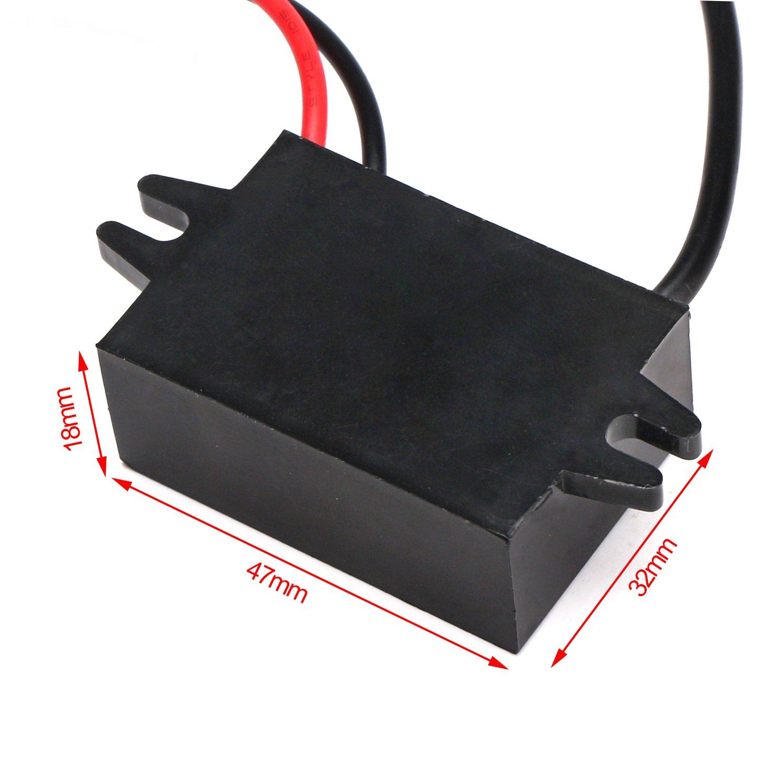 DROK 200101 DC-DC Buck Converter 3A Regulator Power Supply Module Step Down Reducer 12V//24V//36V to 5V Transformer with Dual USB+Ear for Cell Phone MP3 MP4 Car GPS