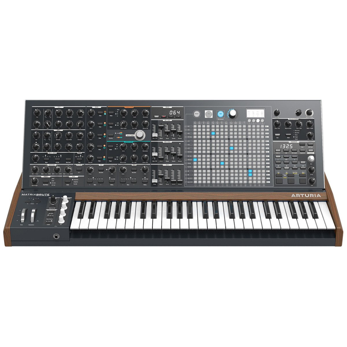 Arturia MatrixBrute Analog Monophonic Synthesizer with 1 Year Free Extended Warranty by Arturia