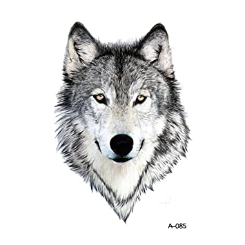 d2b30a514a990 Amazon.com : WYUEN 5 PCS New Design Wolf Body Temporary Tattoo Men Fake  Tattoo Sticker Women Body Art 9.8X6cm (FA-085) : Beauty