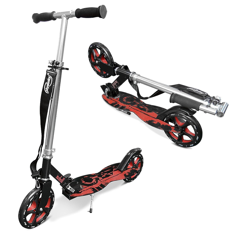 Physionics - Patinete plegable con dos ruedas y manillar - Rebell: Amazon.es: Juguetes y juegos