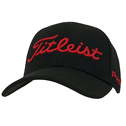 Titleist Players Deep Back Staff Collection Golf Cap 2017 Black Red  Small Medium 2d3c883ccfe