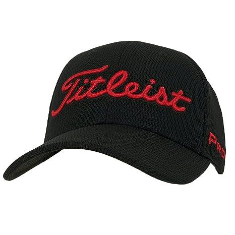 45d25ce8881 Titleist Players Deep Back Staff Collection Golf Cap 2017 Black Red  Small Medium