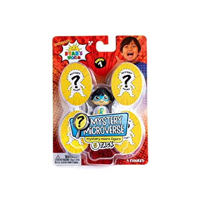 Ryan's World Mystery Microverse Series 1 - Blue Titan and Mystery Micro Figure 5-Pack…: Toys & Games