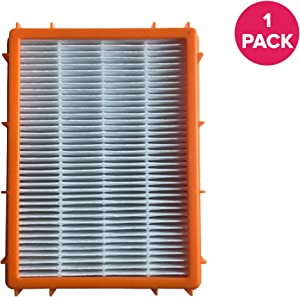 Crucial Vacuum Replacement Vacuum Filter - Compatible with Eureka Part # 61111, 61111A, 61111B, 61111C,61495 - Model HF2, HF-2 4870, 4870AT, 4870BT, 4870DT, 4870DT-2, 4870F, 4870F-1, 4870F-2 (1 Pack)