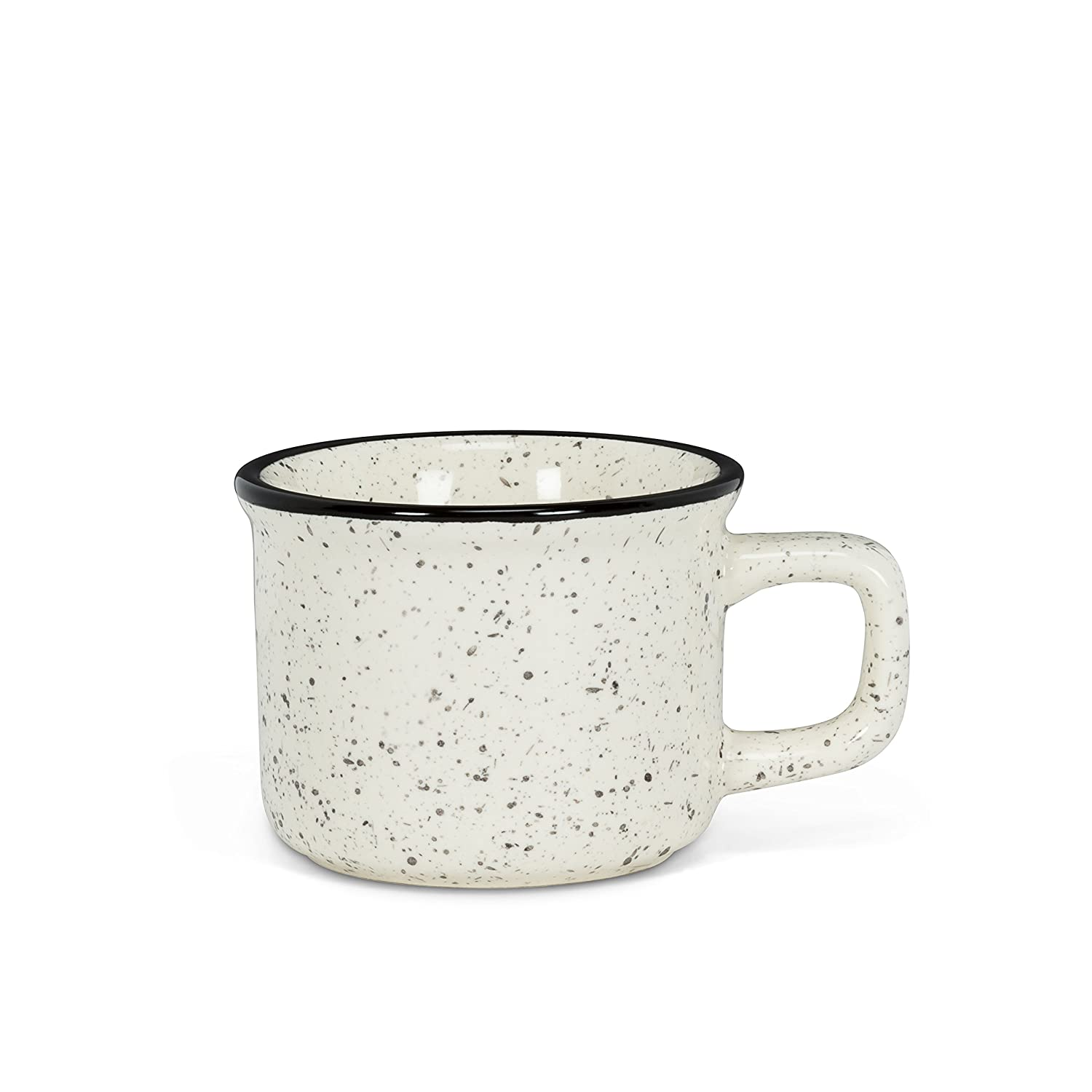 Abbott Collection 1227-CAMP-ESP Espresso Cup 2.5 In Diameter Ivory and Black