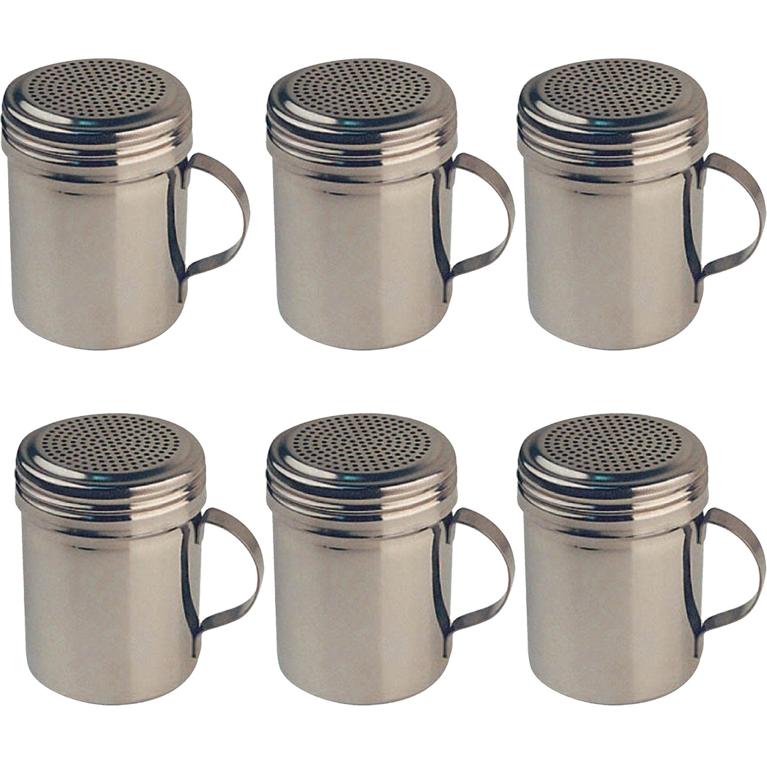 Winware Stainless Steel Dredges 10-Ounce with Handle, Set of 6 by Winware by Winco