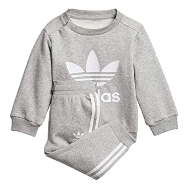 8049ae3d607 Amazon.com: Adidas Kids Originals Trefoil Crew Track Suit: Clothing