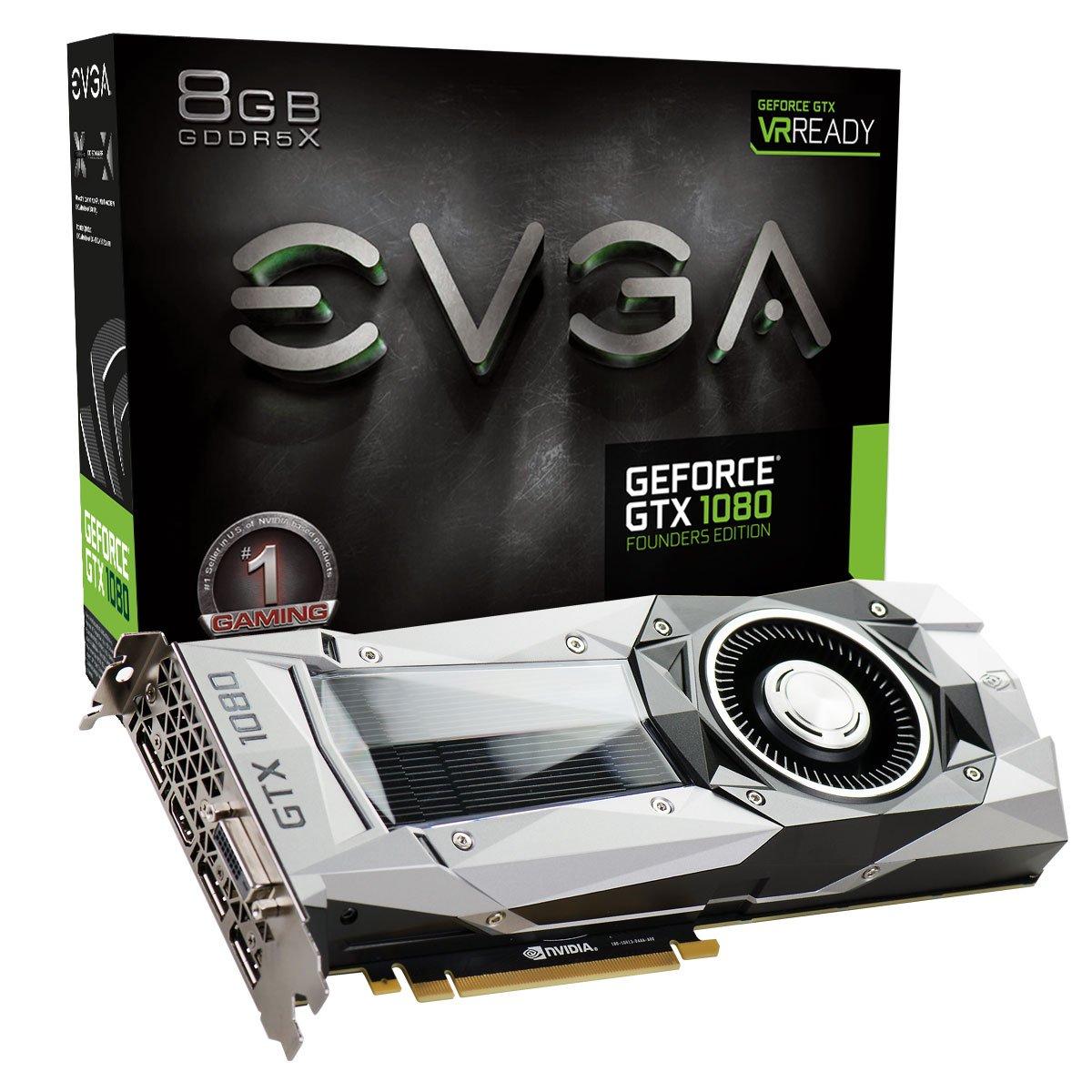 EVGA 08G-P4-6180-KR - Tarjeta gráfica (GeForce GTX 1080, 8 ...