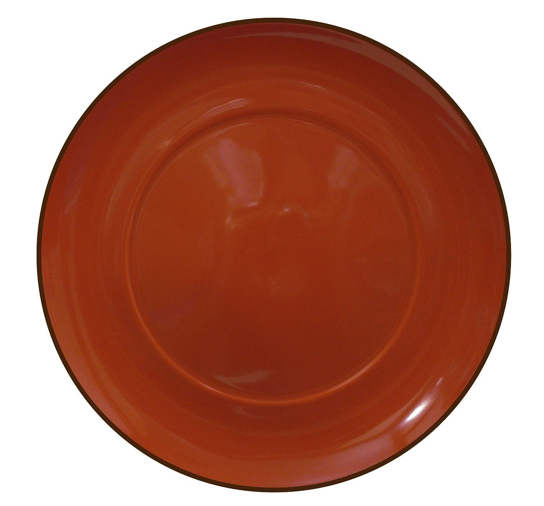 Waechtersbach Duo Set of 4 Dinner Plates, Chili 41S4DN2420