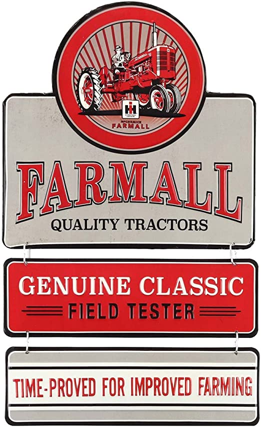 FARMALL TIME PROVED DESIGNED SIZED Tractor Tin Metal Sign Wall Garage Classic
