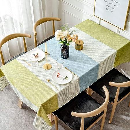 YEARLY Costura Raya Manteles De Mesa, Nordic Moderno Manteles Casa ...