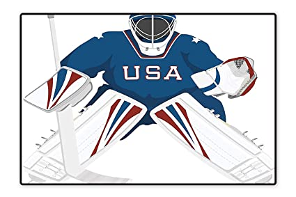 Amazon Com Home Decor Rug Team Usa Hockey Goalie Protection Jersey