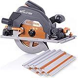 "Evolution - 027-0004C Power Tools R185CCSX 7-1/4"" Multi-Material Circular Track Saw Kit w/ 40"" Track"