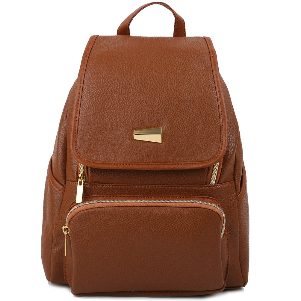 Copi Women's Modern Design Deluxe Fashion Backpacks One Size Camel