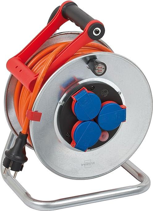 Brennenstuhl Garant S Ip44 Kabeltrommel 25m Kabel In Orange Stahlblech Einsatz Im Außenbereich Made In Germany Baumarkt
