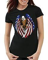 style3 US Balded Eagle Women's T-Shirt USA stars stripes national flag