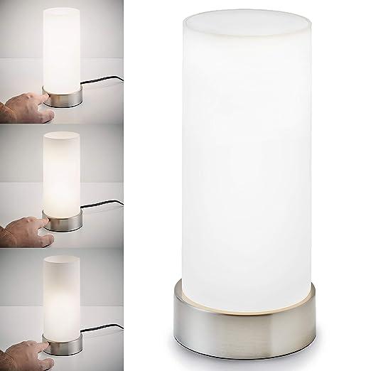 Lámpara de mesa táctil máx. 25 W E14, Altura 245 mm Ø11cm, 4