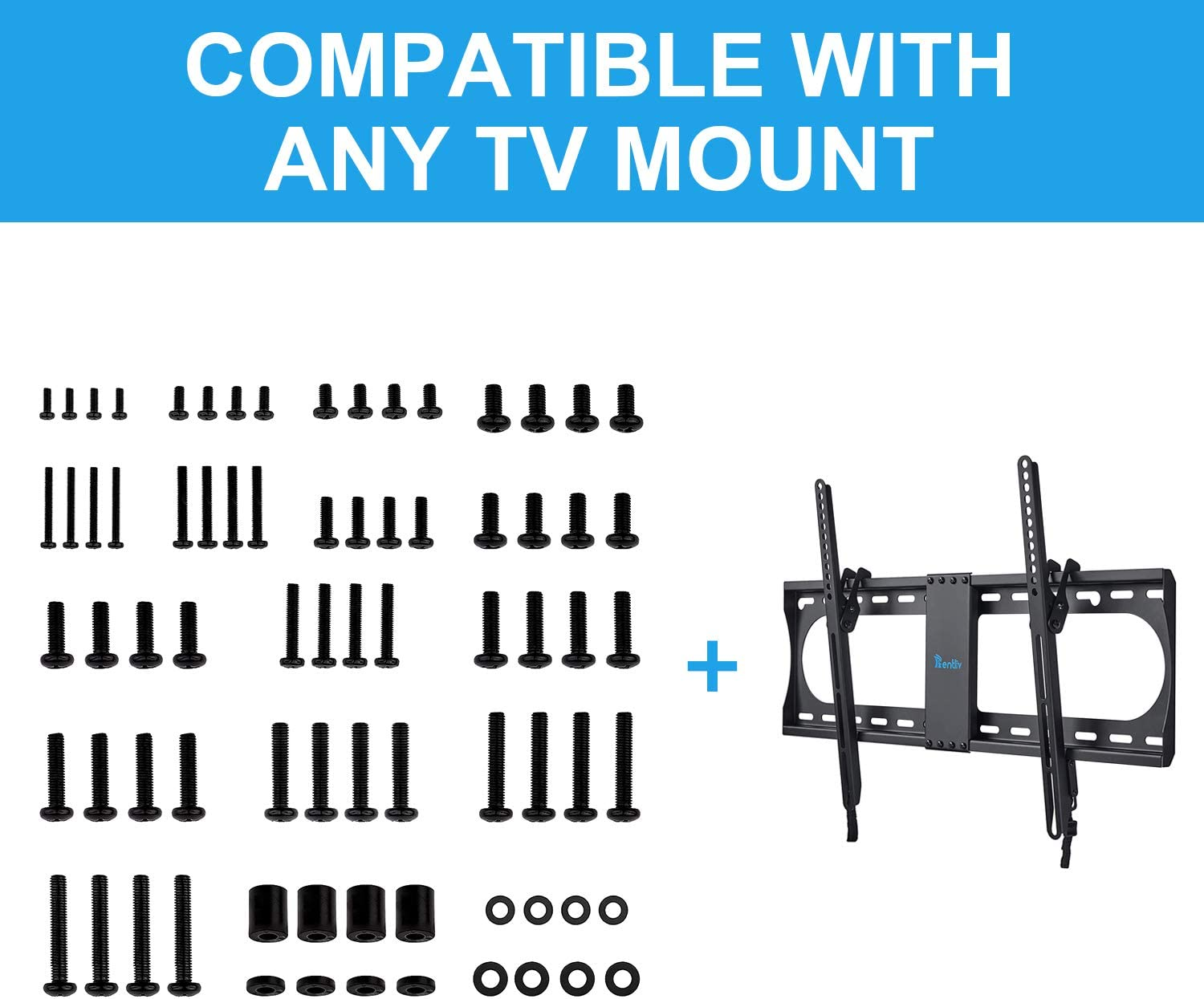 Rentliv Universal TV Mounting Hardware Kit, Fits All TVs Up to 80