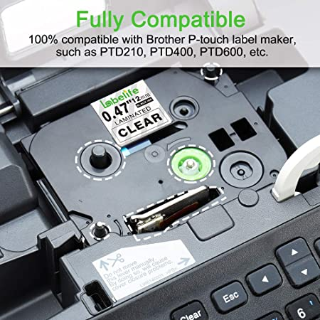 2x Schriftband für Brother TZ-131 schwarz//Clear P-touch 1800 E300VP 1800E