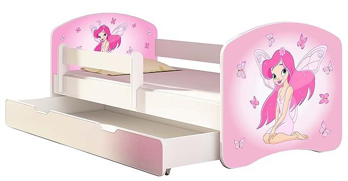 CHILDREN TODDLER KIDS BED FREE MATTRESS ACMA I WHITE /… 140x70 160x80 180x80 40 Designs 42 Tractor, 160x80 cm + drawer