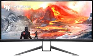 "Acer Predator X35 bmiphzx 1800R Curved 35"" UltraWide QHD Gaming Monitor with NVIDIA G-SYNC Ultimate, Quantum Dot, 200Hz, VESA Certified DisplayHDR 1000, (Display Port & HDMI Port),Black"