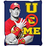 WWE WE0721 John Cena Fleece Throw Blanket, 50 x 60""