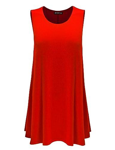 CTC Womens Round Neck Sleeveless Trapeze Dress - Made in USA
