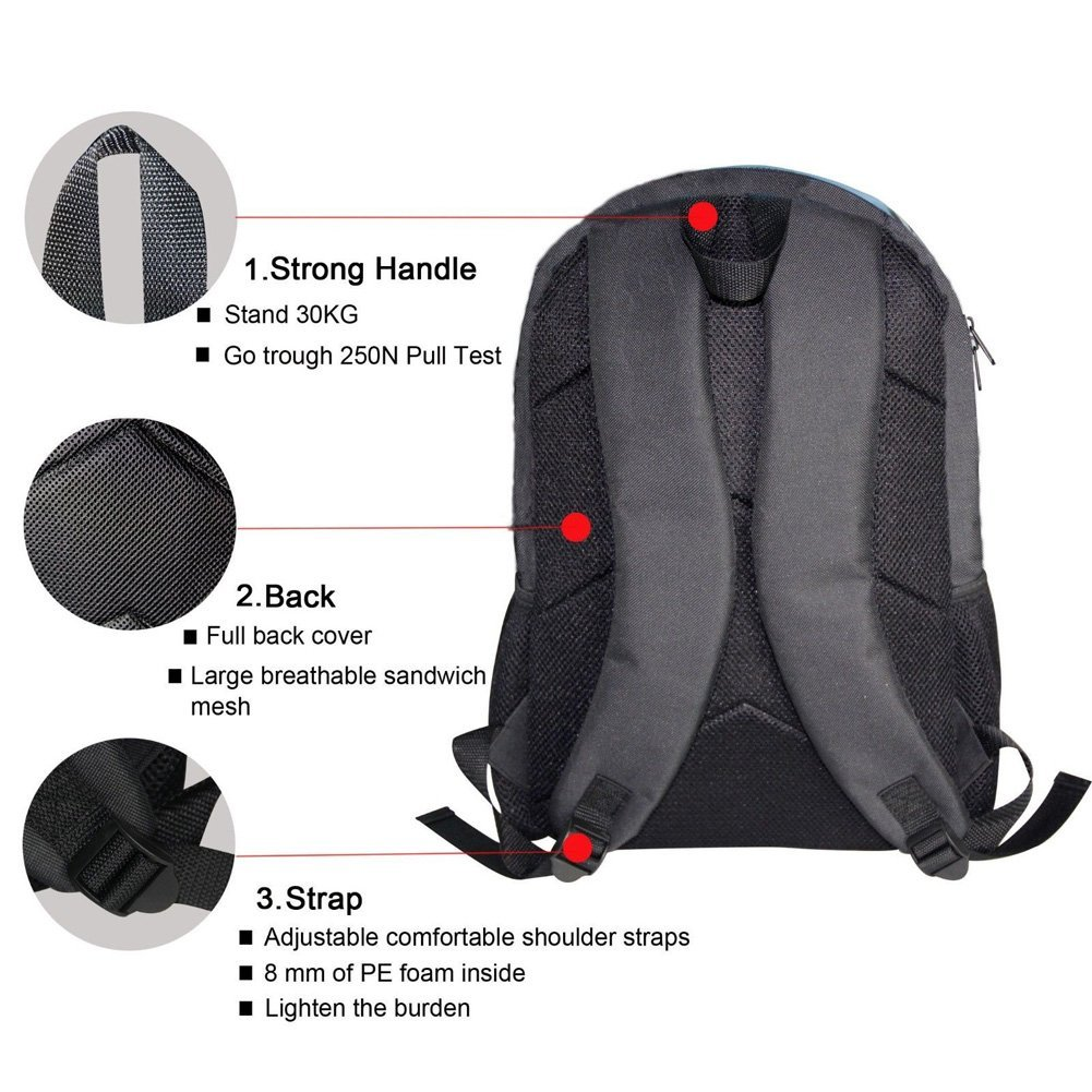 HUGS IDEA 2 Piece 3D Dinosaur Backpack Set Boys School Bag Bookbag with Lunch Bag by HUGS IDEA (Image #3)