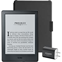 """Kindle Essentials Bundle including Kindle 6"""" E-Reader (Previous Generation - 8th), Black with Special Offers, Amazon…"""