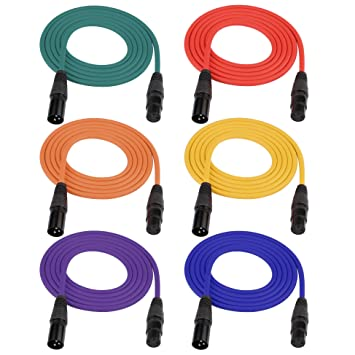 amazon com dreokee 6ft dmx cable pack of 6, 3 pin signal XLR Connector Wiring