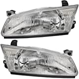 Driver and Passenger Headlights Headlamps Replacement for Toyota 81150AA010 81110AA010
