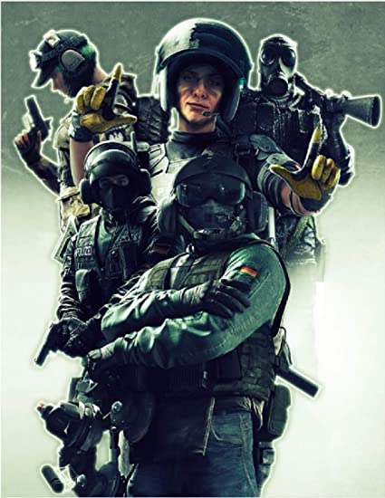 Rainbow Six Siege Poster Laminated Holographic Flip Effect (Portrait-Sized  - 18'' x 14'' || for Game Room Small Decor and Gift)