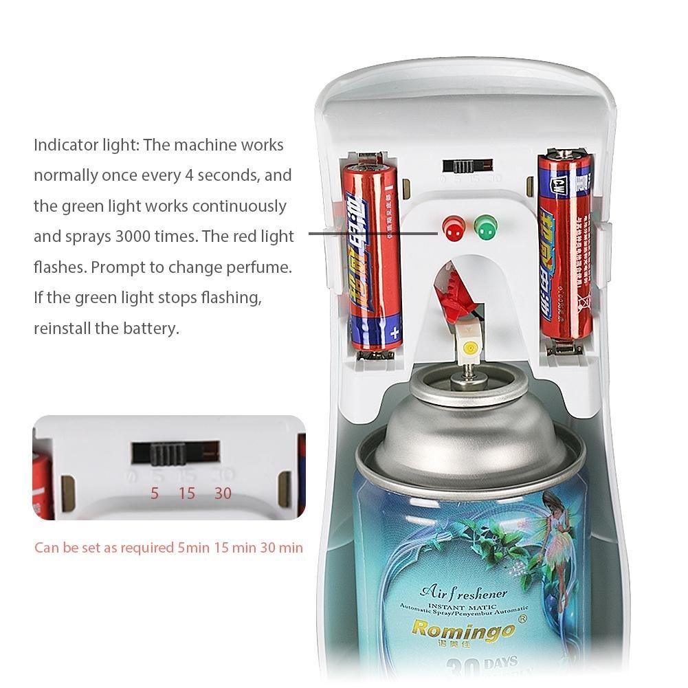... difusor de aire automático, spray de aire automático, dispensador de fragancia de aerosol para hotel, oficina, tienda, cuarto de baño, coche, ...