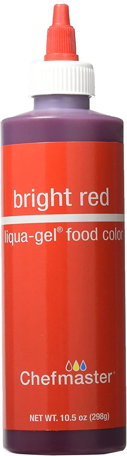 Chefmaster Liqua-Gel Food Color, Net Weight 10.5 Ounce (298 Grams) (Bright Red)
