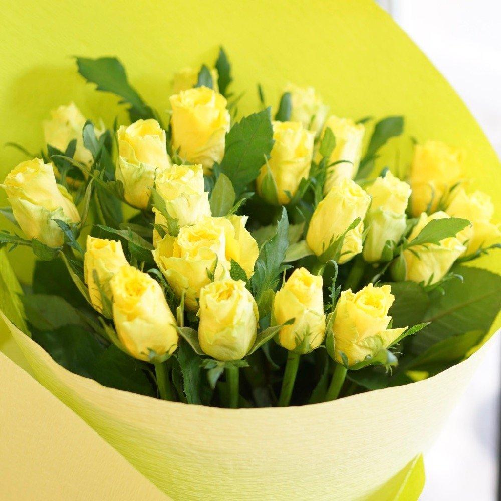 フラワーショップカレラ バラ60本の花束 (黄) B076VBQS2R