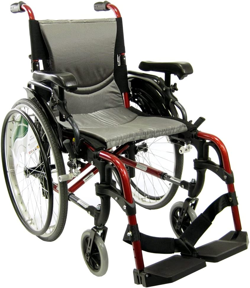 "Karman S-ERGO 305 Lightweight Ergonomic Wheelchair S-Ergo305Q18RS, 29 lbs., Quick Release Wheels, Frame Rose Red, Seat Size 18""W X 17""D, Factory Adjustable Seat Height (Default 19"" Floor To Seat) 71qshoiVpHLSL1000_"