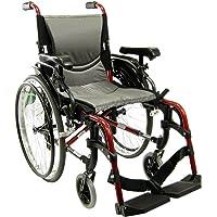 Karman Healthcare S-305 Ergonomic Ultra Lightweight Manual Wheelchair, Rose Red, 16-Inch Seat Width