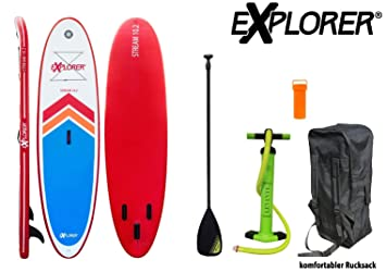 Explorer Sup Tabla inchable de Paddle Surf ISUP, con Pala: Amazon.es: Deportes y aire libre