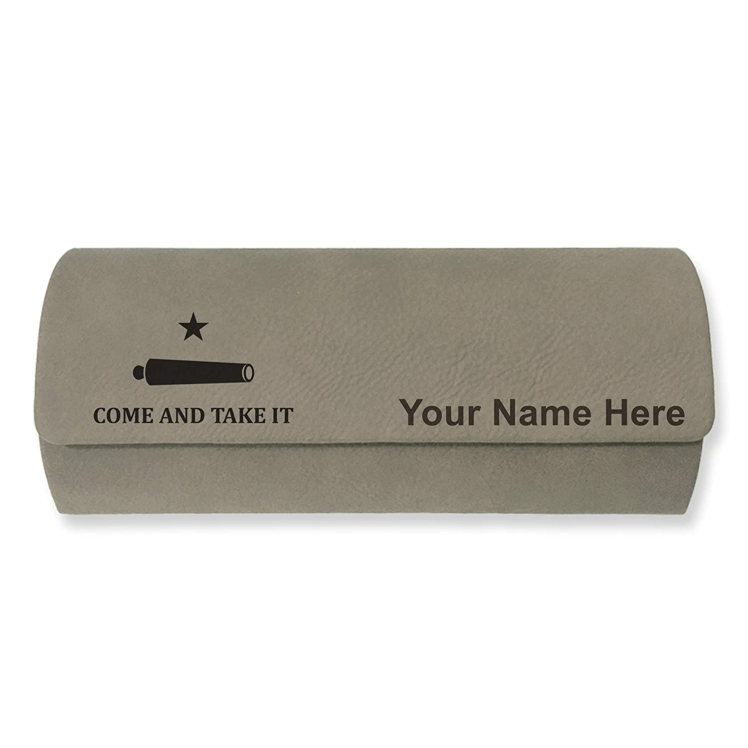 Texas Come and Take It Flag Sunglass Case Personalized Engraving Included