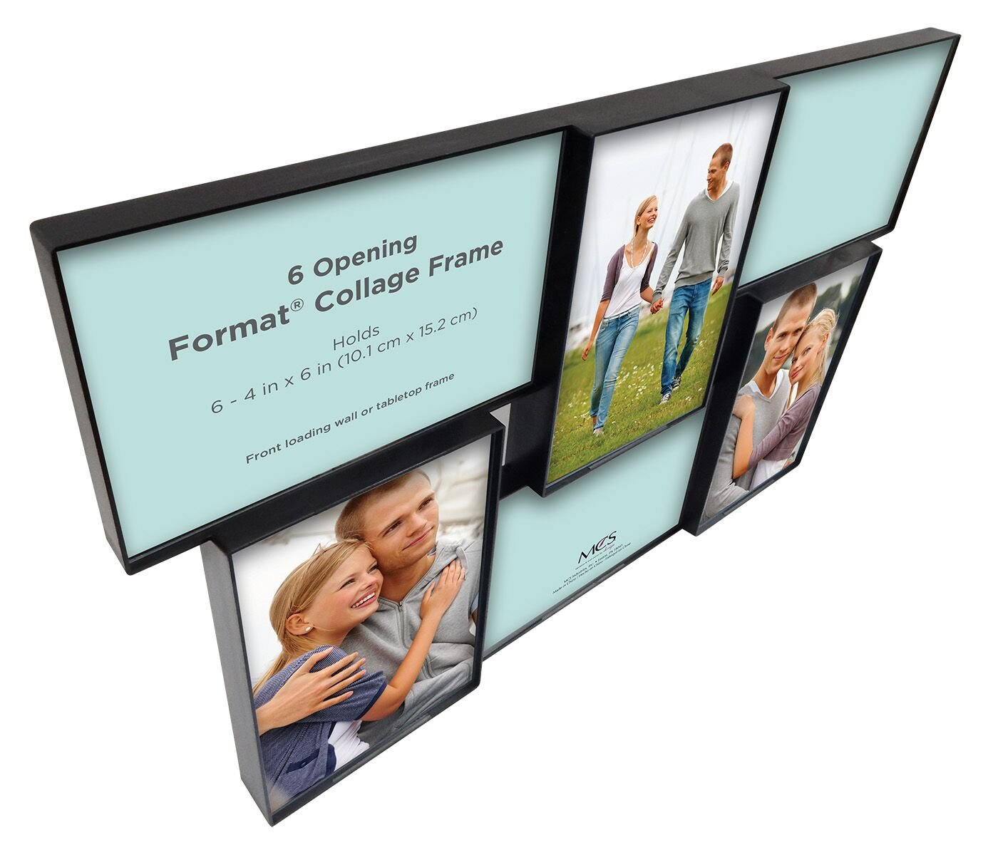 Two 4 by 6-Inch One 5 by 7-Inch 3 Openings Black MCS 47674 Format Frame Collage