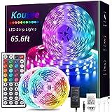 65.6FT /20M RGB LED Strip Lights Ultra-Long Color Changing Led Light Strip with Remote, DIY Color Options Tape Lights with ET