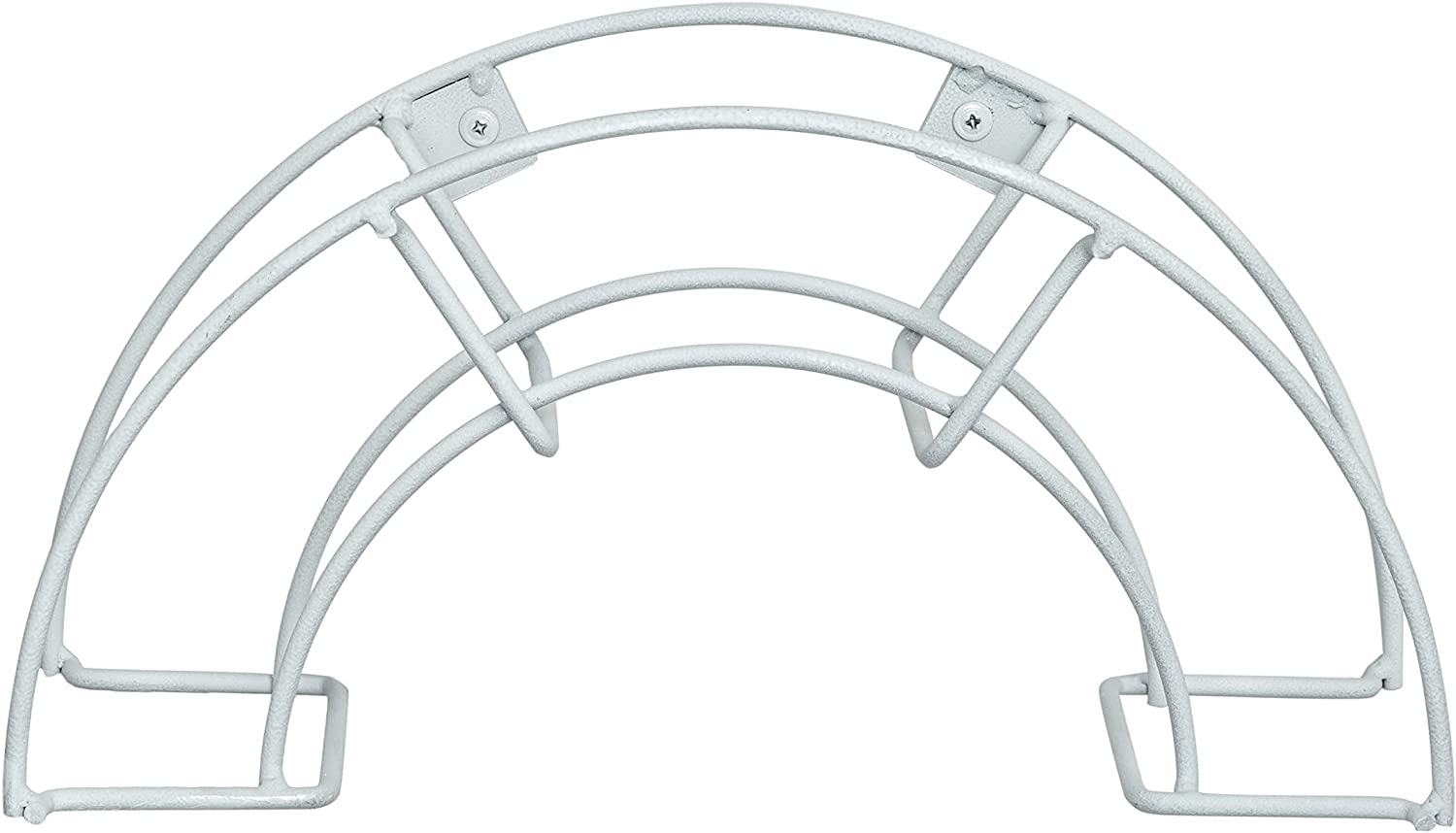Quality Choices Metal Garden Water Hose Holder – Rust-Resistant Coated Steel Hanger for 150 ft. Standard Wall Mount Garden Hose Rack (Round, White)