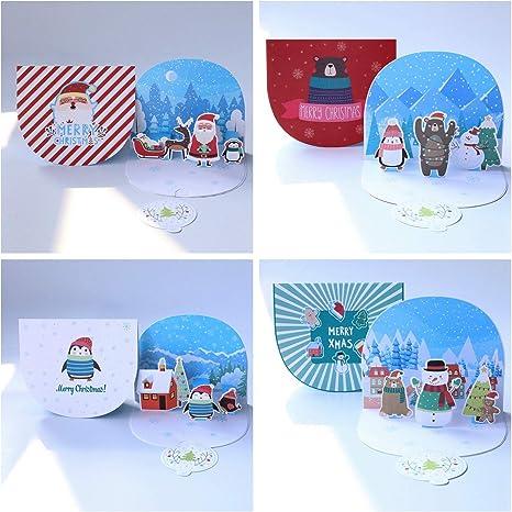 Amazon.com: Paper Spiritz Pop Up Tarjetas de Navidad ...