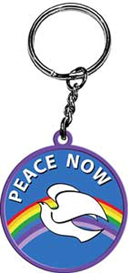 Amazon.com: Licencias Productos paz ahora llavero de goma ...