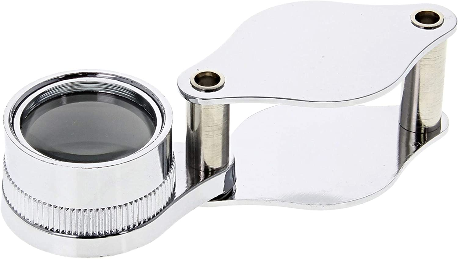 Jewelers LOUPE 10X Power Diamond Doublet LOUPE Silver Magnifier Tool S//Steel