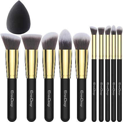 EmaxDesign - Juego de brochas de maquillaje kabuki de fibra ...