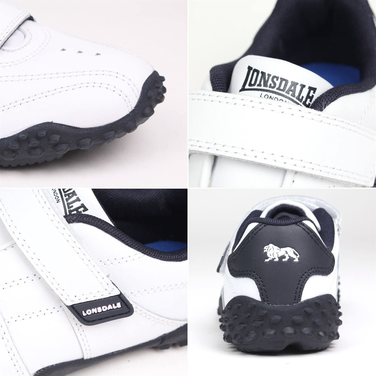 Lonsdale Kids Fulham Trainers Child Low Padded Ankle Collar