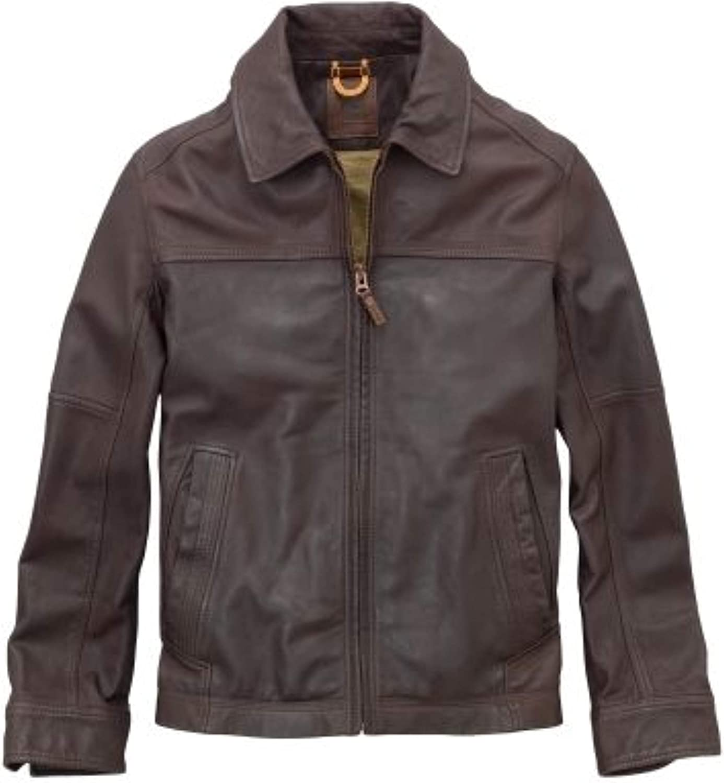 ventilación amor tubo  Timberland Stratham 100% Lamb Leather Bomber Jacket Brown Men's M:  Amazon.co.uk: Clothing